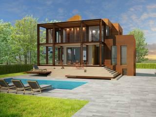 Villa da vacanza tutto l'anno Case moderne di VILLEINBIOEDILIZIA Moderno