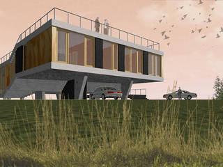 Dom Latający Dywan: styl , w kategorii  zaprojektowany przez S.LAB architektura Tomasz Sachanowicz