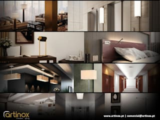 Artinox lamps:   por LUZZA by AIPI - Portuguese Lighting Association,Moderno
