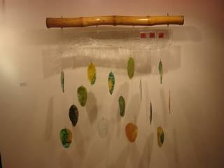 """Mural """"Hojarasca"""" Indigo Glass Art Paredes y pisosDecoración para la pared Vidrio"""