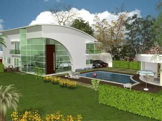 Casas modernas por CHASTINET ARQUITETURA URBANISMO ENGENHARIA LTDA Moderno