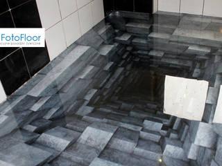 Podłoga 3D z żywicy Nowoczesna łazienka od FotoFloor Nowoczesny