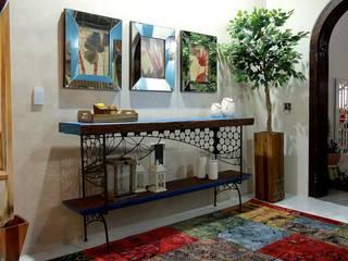 Sala de Boas Vindas: Corredores e halls de entrada  por A7 Arquitetura | Design
