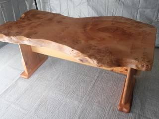 無垢一枚板ダイニングテーブル(銀杏材): 坂本銘木店  木彩が手掛けたです。