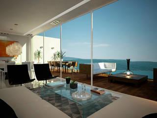 Citlali Villarreal Interiorismo & Diseño Salon moderne