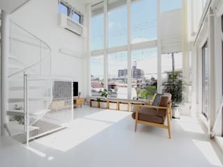 環境建築計画 Modern living room Glass White