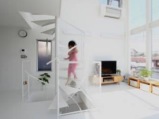 東長町の家 モダンスタイルの 玄関&廊下&階段 の 環境建築計画 モダン