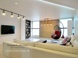 Salones de estilo industrial de JMdesign Industrial