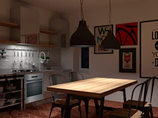 Industrial style kitchen by OGARREDO Industrial
