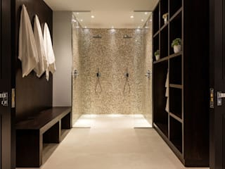 Mother of Pearl Mosaics at Laurel Grove Modern bathroom by ShellShock Designs Modern