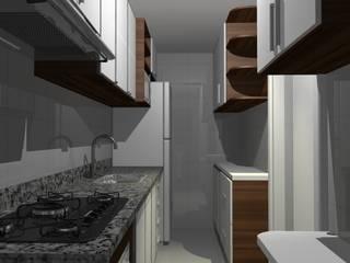 Projeto: Cozinhas  por Brasília Interiores
