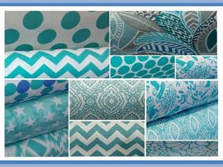 Textiles en color Aqua:  de estilo  por NBe DECO