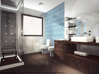 Instalação Sanitária: Casas de banho  por Living Atmosphere