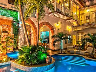 Diseño interior Hotel Boutique Don Pepe: Hoteles de estilo  de Mitamatita