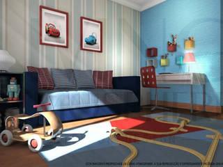 O quarto do João Living Atmosphere Kids Quartos de criança modernos