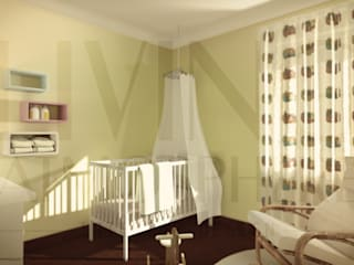 O quarto da Eva Quartos de criança modernos por Living Atmosphere Kids Moderno
