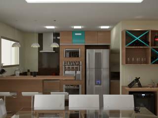 Cozinha SJ: Cozinhas  por KC ARQUITETURA urbanismo e design,Moderno