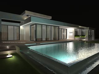 DYOV STUDIO Arquitectura, Concepto Passivhaus Mediterraneo 653 77 38 06 Infinity pool Stone Green