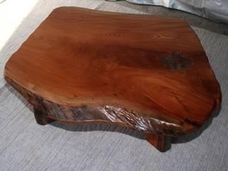天然木座卓(欅材): 坂本銘木店  木彩が手掛けたです。