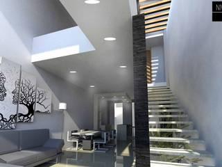 Couloir, entrée, escaliers modernes par NIVEL SUPERIOR taller de arquitectura Moderne