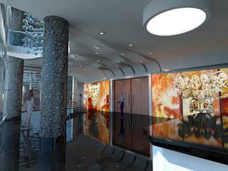 Lobby Teatro: Salones de eventos de estilo  de Mitamatita