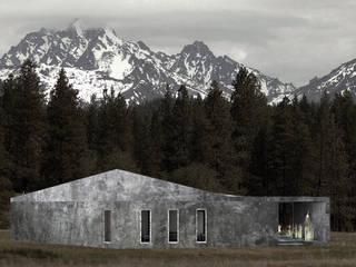 Dom w górach Minimalistyczne domy od QCA Minimalistyczny
