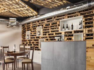 """Restaurante """"Um Cibo no Prato"""" - Braga: Espaços de restauração  por Inception Architects Studio,Moderno"""