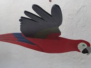 Guacamaya roja, azul y verde:  de estilo  por Artesania Ikare