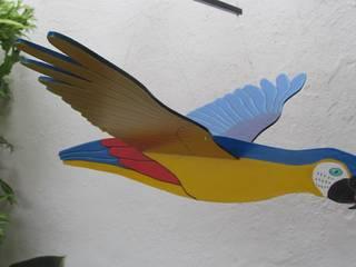 Guacamaya azul, amarillo y rojo:  de estilo  por Artesania Ikare