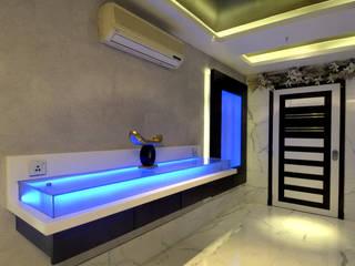 Private Residence at Versova Minimalist corridor, hallway & stairs by ARK Reza Kabul Architects Pvt. Ltd. Minimalist