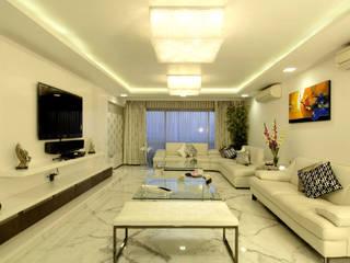 Private Residence at Versova Minimalist living room by ARK Reza Kabul Architects Pvt. Ltd. Minimalist