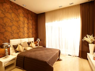 Ekta Tripolis Sample Flat:  Bedroom by ARK Reza Kabul Architects Pvt. Ltd.