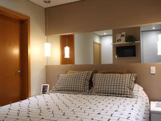 Apartamento Paisagem Tamboré Studio 262 - arquitetura interiores paisagismo Quartos modernos