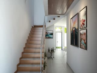 Pasillos, vestíbulos y escaleras modernos de Muret Studio Moderno