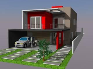 MAQUETE 3D DAIANA 모던스타일 주택 by Ian Wyatt Arquitetura 모던