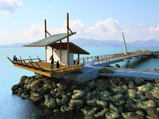 Estudo para ligação dos píer da praia da imbetiba , macaé - rj de Ian Wyatt Arquitetura Moderno