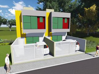Residência geminada vale das palmeiras macaé - rj Modern houses by Ian Wyatt Arquitetura Modern