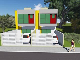 Residência geminada vale das palmeiras macaé - rj Moderne huizen van Ian Wyatt Arquitetura Modern