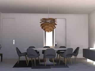 ห้องทานข้าว โดย Santiago   Interior Design Studio , ผสมผสาน