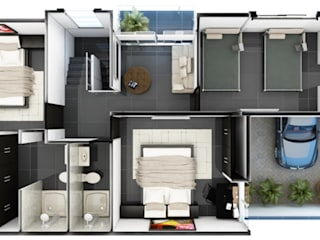 Remodelaciones y diseño arquitectónico:  de estilo  por Ramirez Veloza arquitectos