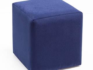 Kare ve Diktörgen puf K105 Mobilya Pazarlama Danışmanlık San.İç ve Dış Tic.LTD.ŞTİ. Oturma OdasıAksesuarlar & Dekorasyon Mavi