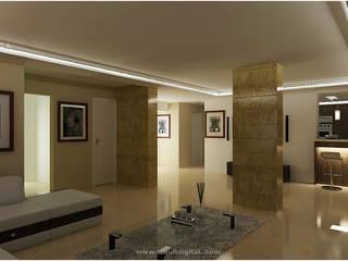 Proyectos Salas de estilo moderno de Arquitdigital Moderno
