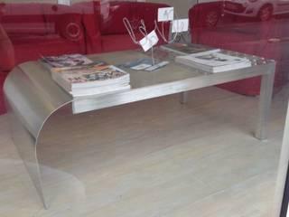 Table basse en aluminium.:  de style  par  Métallier Bordeaux