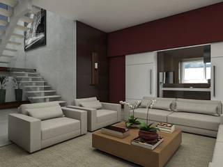 Projeto Salas de estar modernas por Essere Design de Interiores e Arquitetura Moderno