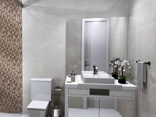 Projeto Banheiros modernos por Linear Arquitetura e Interiores Moderno