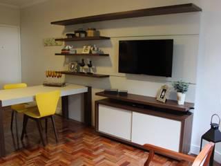 Projeto Salas de estar modernas por Ms studio - arquitetura + interiores Moderno