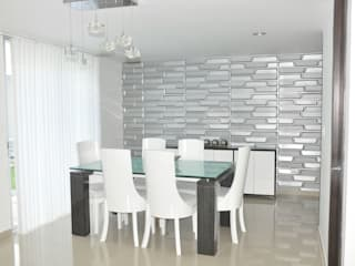 Modern dining room by Decoespacios Modern