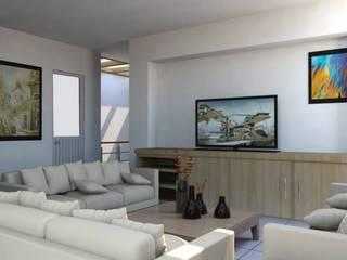 Living room by visioncreativaarquitectos, Modern