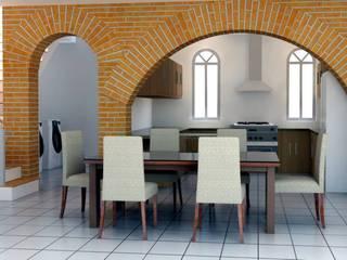 Dining room by visioncreativaarquitectos, Modern