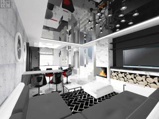 Dom w Baninie: styl , w kategorii Salon zaprojektowany przez IDEALNIE Pracownia Projektowa